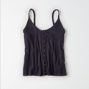 AEO Button Front Tank Top